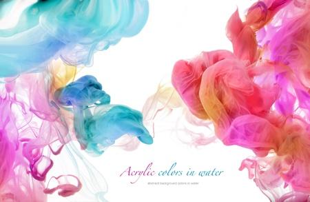 Akrylowe kolory w wodzie. Abstrakcyjne tło.