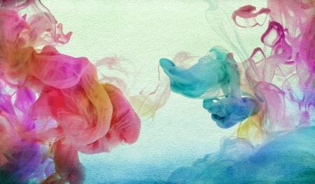 水のアクリル絵の具。抽象的なテクスチャ背景。