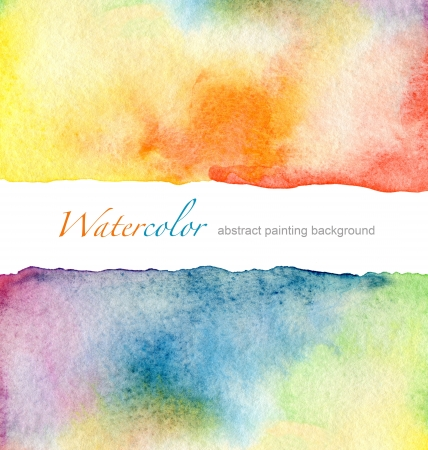 drip: Abstract watercolor painted background