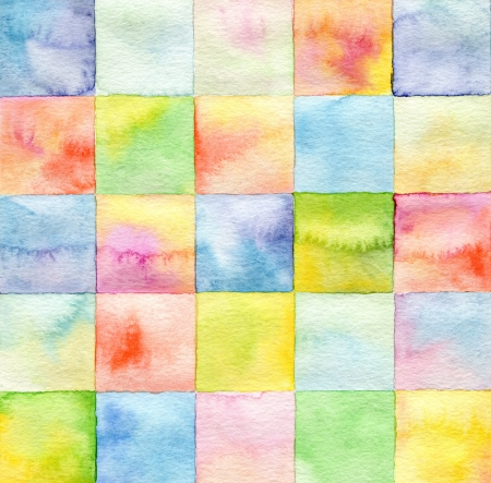 Abstract  square watercolor painted background Stock Photo