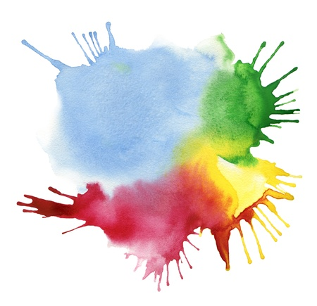artist palette: abstract color watercolor blot background Stock Photo