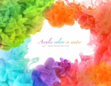 Colori acrilici in acqua. Sfondo astratto. Archivio Fotografico - 21920913