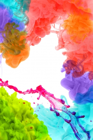 multi color: Acrylic colors in water. Abstract background.