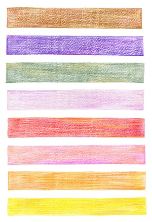 set of color pencil graphic elements photo