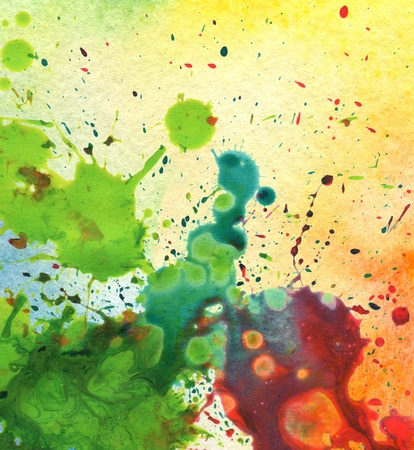 gouache: abstract watercolor painting blot background