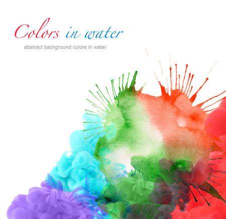 blotch: abstract watercolor blot background Stock Photo
