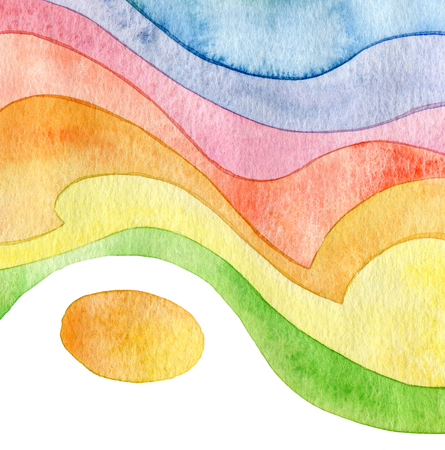 aquarelle painting art: Abstract wave watercolor  Stock Photo
