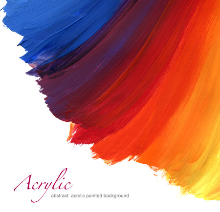 Abstract acryl de hand geschilderde achtergrond Stockfoto