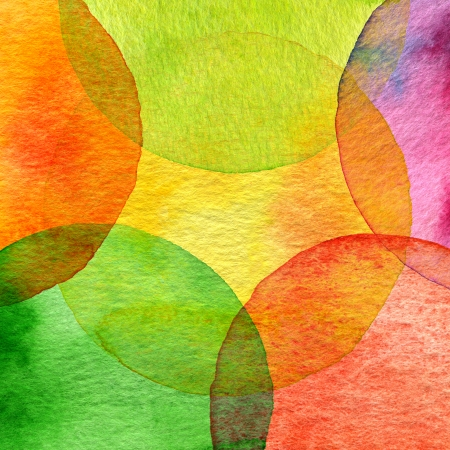 Abstract watercolor circle painted background photo