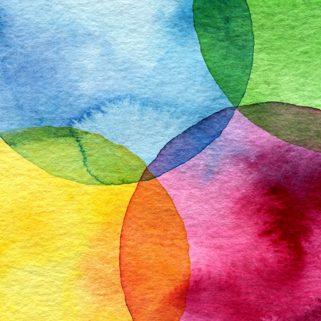 blot: Abstract watercolor circle painted background