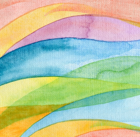 Abstract wave watercolor painted background Stock Photo