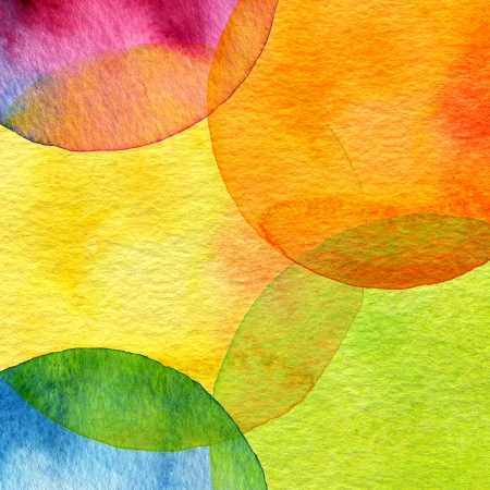 aquarelle: Abstract watercolor circle painted background