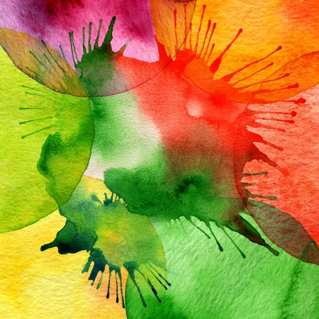 aquarelle: Abstract watercolor painted background
