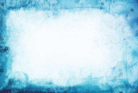 Abstract watercolor painted background. Snow winter texture. photo