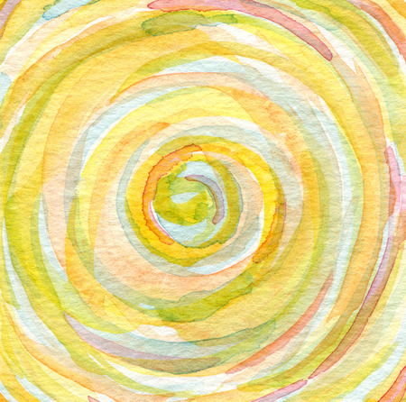 hand painted: Abstract  watercolor hand painted background. Spiral pattern. Paper texture.
