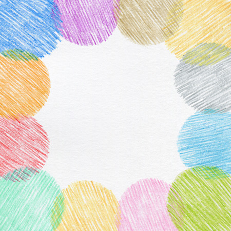 colores pastel: dibujo a mano marco de un l�piz Foto de archivo