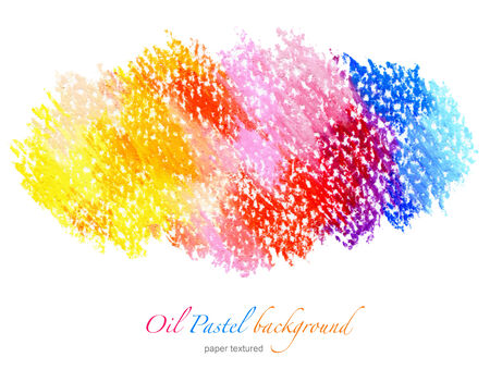 aquarelle: Abstract oil pastel painted background   Stock Photo