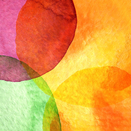 hand painting: Abstract watercolor circle painted background  Paper texture
