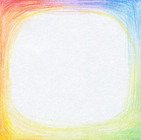 color spectrum: Abstract color pencil scribbles background. Paper texture. Stock Photo