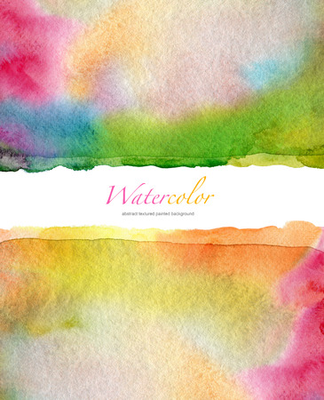 aquarelle painting art: Abstract watercolor and acrylic painted background. Paper texture.