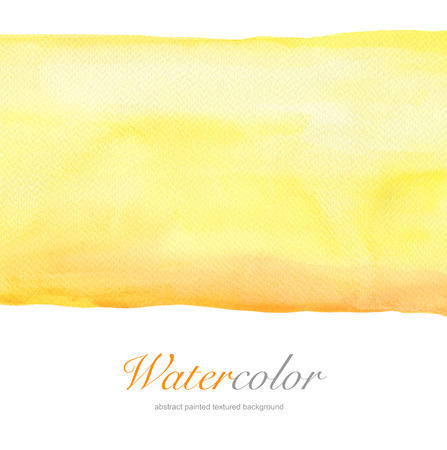 Abstract yellow watercolor hand painted background. Textured paper. photo