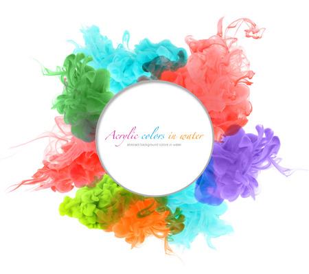 Acrylfarben in Wasser. Zusammenfassung Hintergrund. Standard-Bild - 31363232