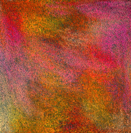 Abstract textured acrylic and oil pastel hand painted background. Papaer texture. photo