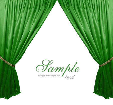 Green theater curtain background photo