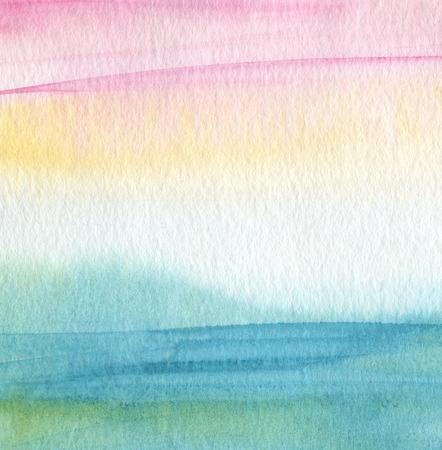 抽象的なアクリルと水彩の塗られた背景。紙テクスチャします。