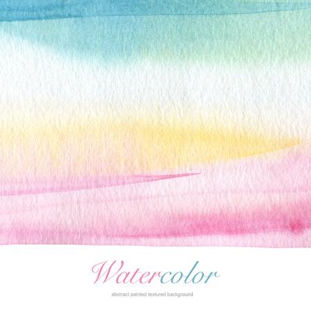 抽象的なアクリル、水彩画の背景に描かれています。紙テクスチャします。