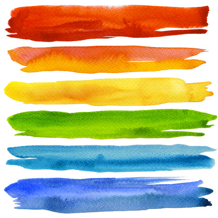 paint palette: Abstract acrylic and watercolor painted background. Paper texture. Stock Photo