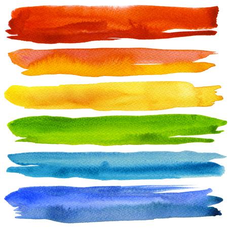 rayas de colores: Resumen acr�lico y acuarela pintada de fondo. Textura de papel.