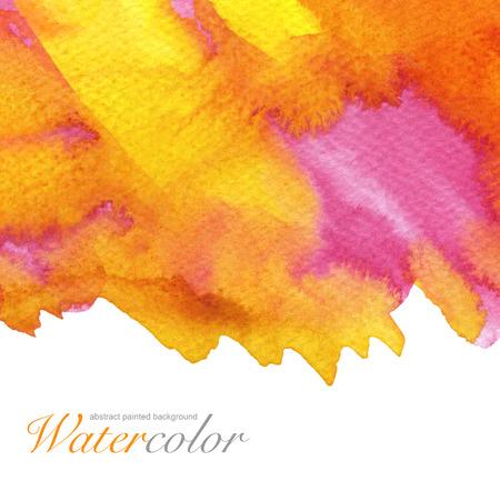 抽象的な水彩画の背景を描いた。紙テクスチャします。