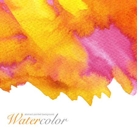 Abstract watercolor painted background. Paper textured.