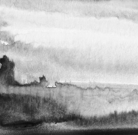 抽象的なアクリルと水彩の塗られた背景。紙のテクスチャです。 写真素材