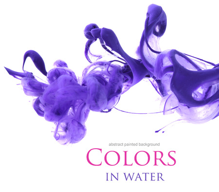ink in water: Acrylic colors in water. Abstract background.