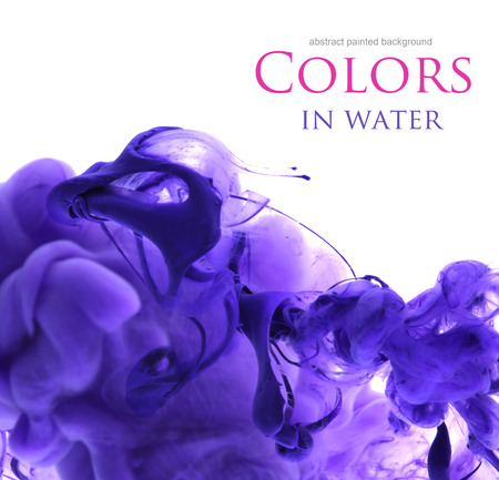 blue paint: Acrylic colors in water. Abstract background.