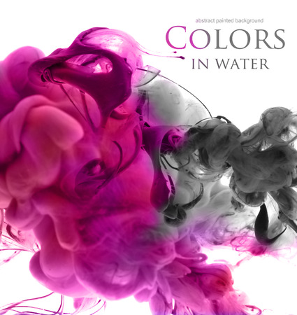abstract paintings: Acrylic colors in water. Abstract background.
