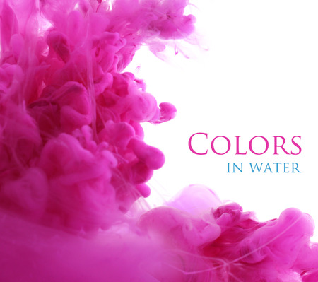 pink paint: Acrylic colors in water. Abstract background.