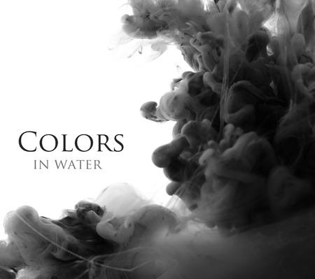 Acrylfarben in Wasser. Zusammenfassung Hintergrund. Standard-Bild - 34318640