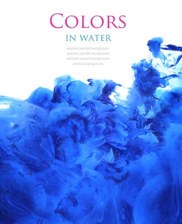 arte abstracto: Colores de acr�lico en el agua. Resumen de antecedentes.