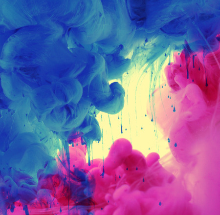 ink drop: Acrylic colors in water. Abstract background.