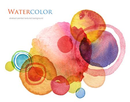 抽象的なサークル アクリルと水彩背景を描いた。 写真素材