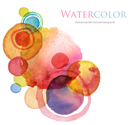 Abstract circle acrylic and watercolor painted background. Stock Photo - 34653027