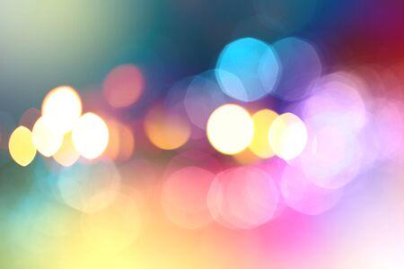 de focus: Abstract city lights blur blinking background. Soft focus.