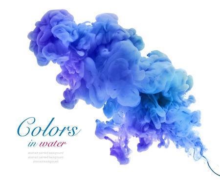 アクリルは水を色します。抽象的な背景。