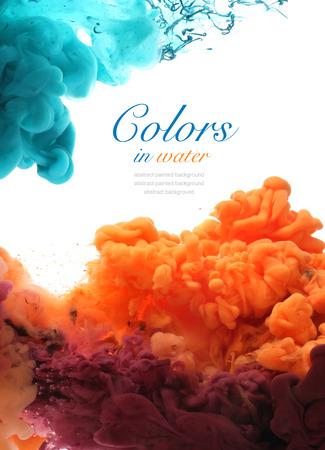 humo: Los colores acrílicos y tinta en el agua. Resumen de antecedentes.