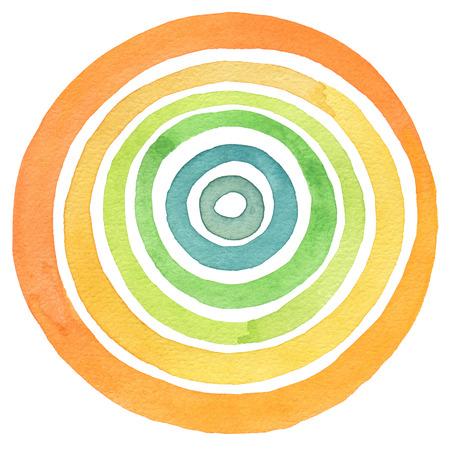 espiral: Resumen acr�lico y acuarela pintados c�rculo fondo. La textura del papel.