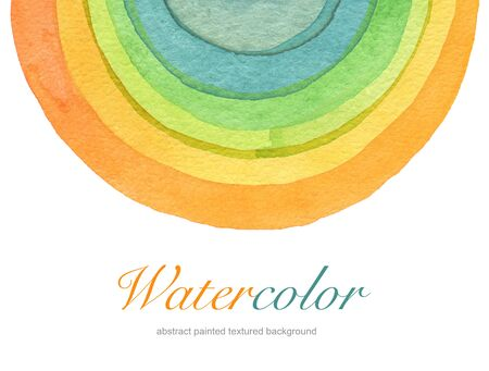 Abstract acrylic and watercolor circle painted background. Texture paper. photo