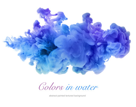 color drops: Acrylic colors in water. Abstract background.